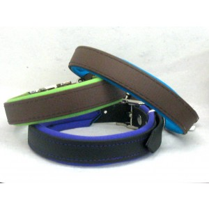 Biothane Halsband gevoerd tot 35cm