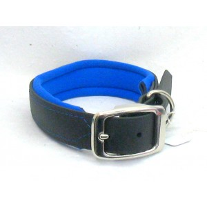 Biothane Halsband gevoerd tot 55cm