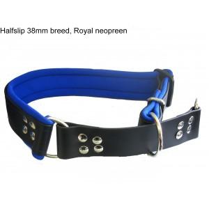 Biothane Halsband gevoerd tot 65cm